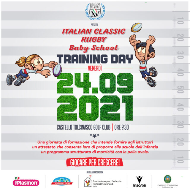 ITALIAN CLASSIC RUGBY BABY SCHOOL TRAINING DAY 2021